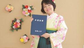 卒業袴もご紹介しています!気になる髪型はボブのハーフアップ!